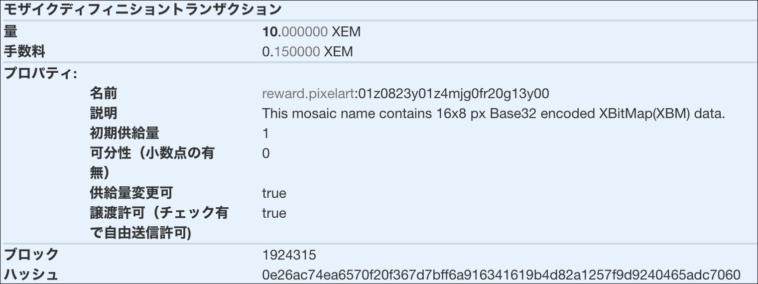 Mosaic definition transaction