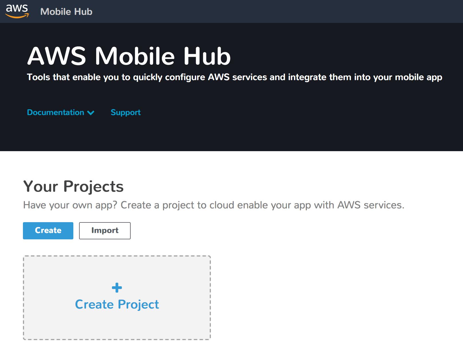 Mobile Hub top