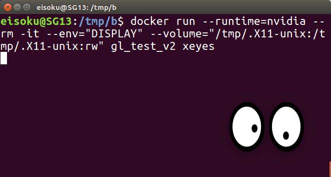 NVIDIAが入っているPCにおいてdocker上でopenGLなプログラムを起動して