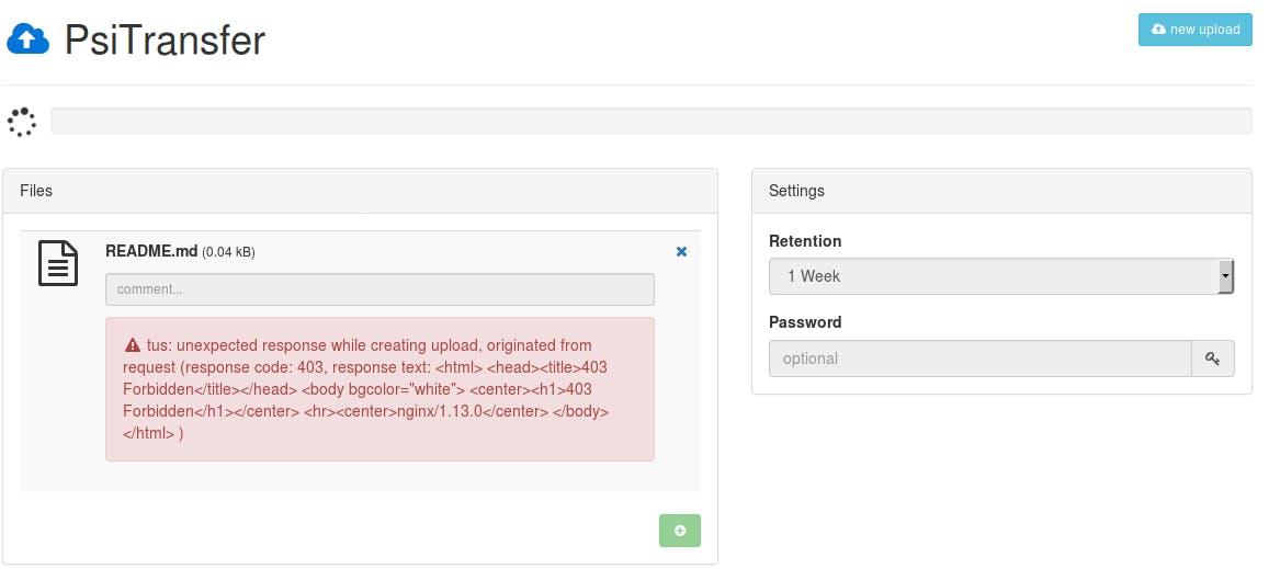 PsiTransfer (uploader) にnginxでuploadにアクセス制限をかける - Qiita