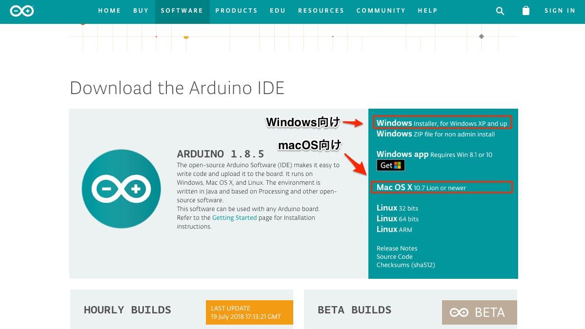 Arduino IDE インストール