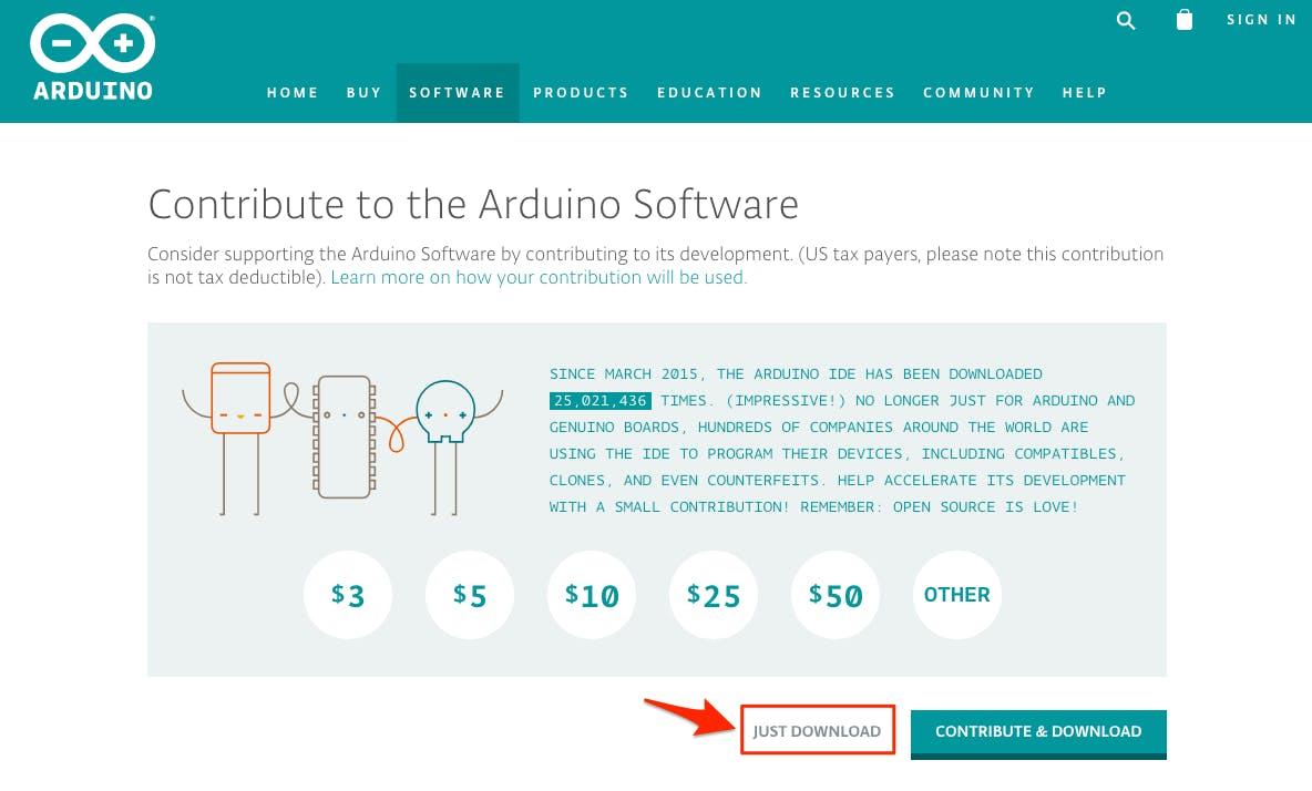 Arduino IDEダウンロード