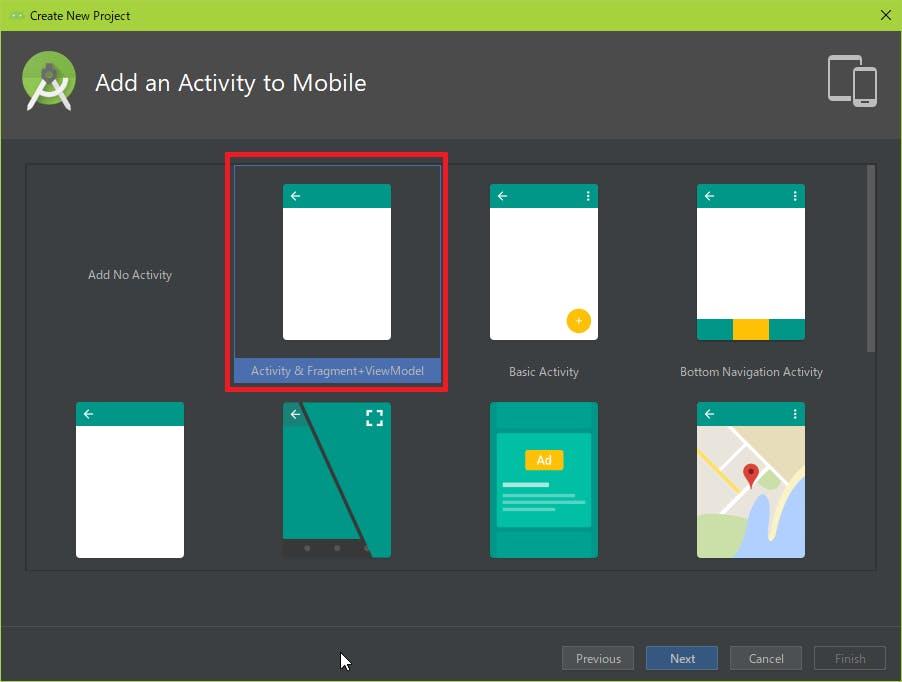 Activity & Fragment + ViewModel