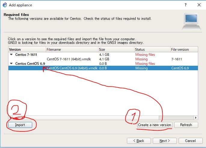 ansible2 7 を GNS3上で遊ぶために ①GNS3の導入、CentOSをのっけて