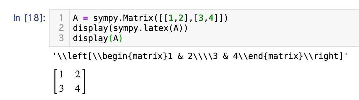 Jupyter Notebook上でSymPyの数式とLaTeXコマンドを組み合わせて表示 - Qiita