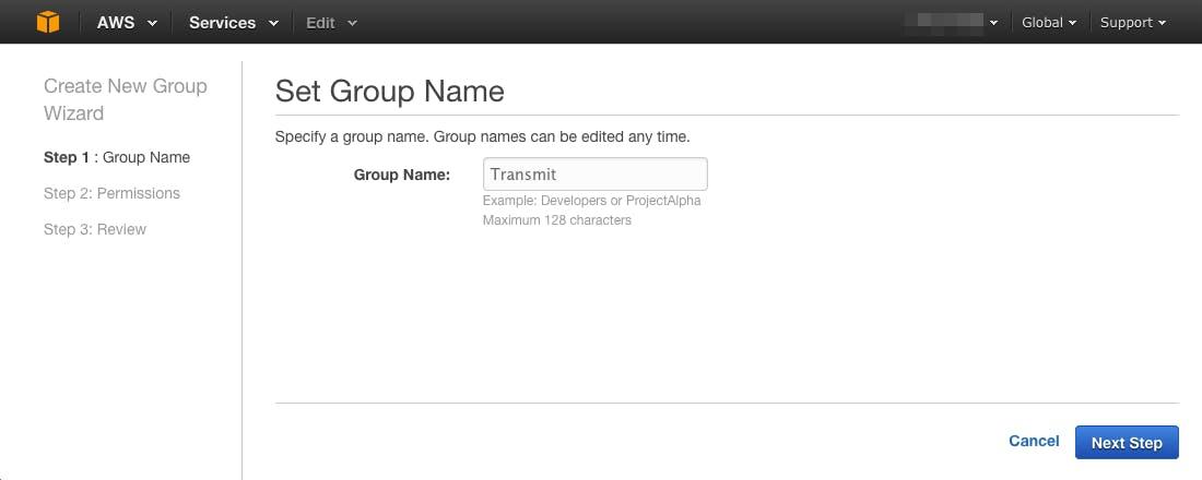 Groupを作成する