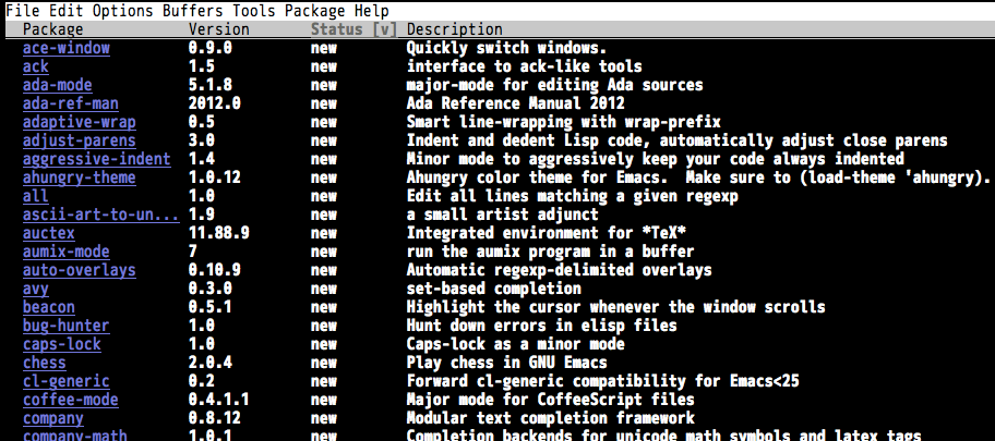 list-packages