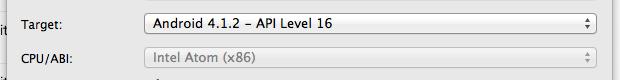 CPUをx86に設定
