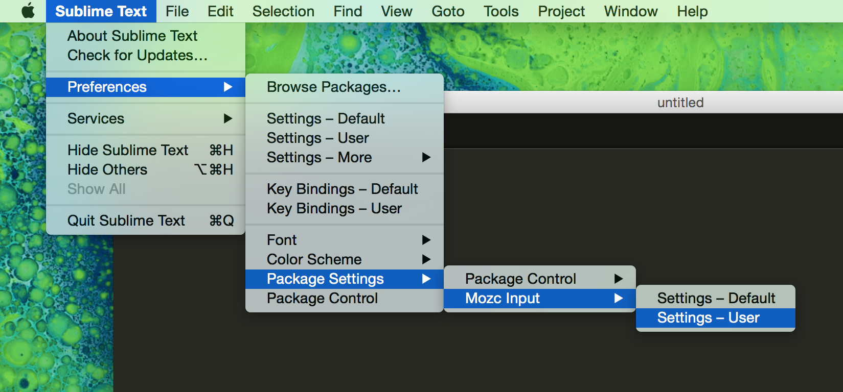 sublime text setting