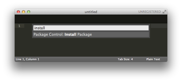 Command Palette - install