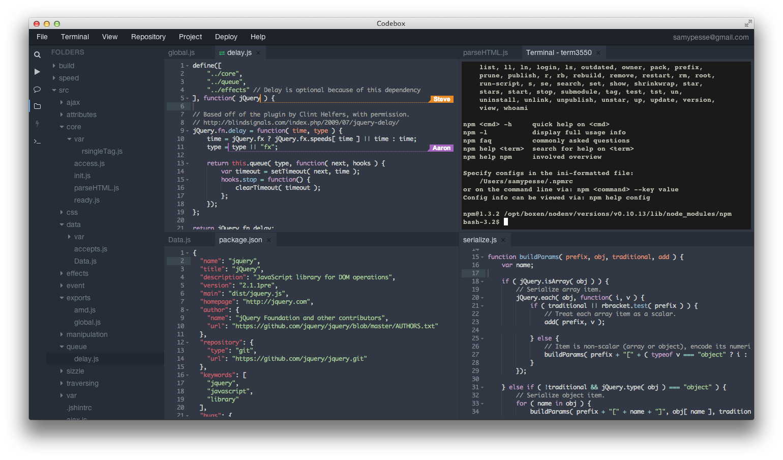 CodeBoxのスクリーンショット