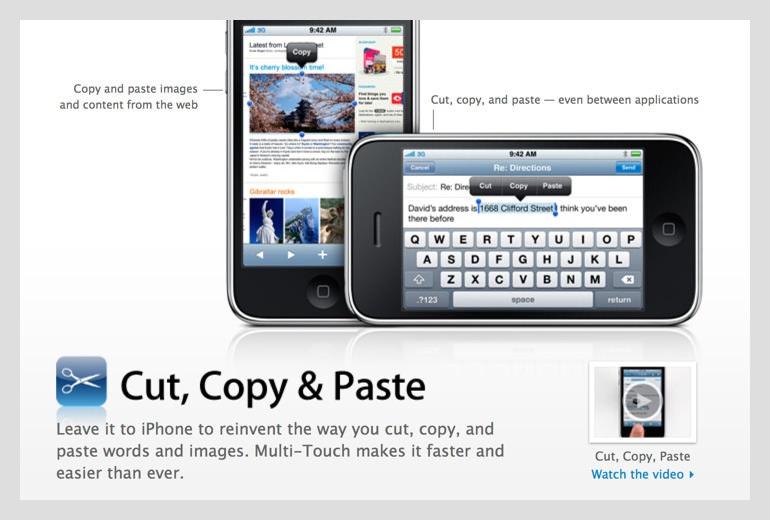 Cut, Copy & Paste