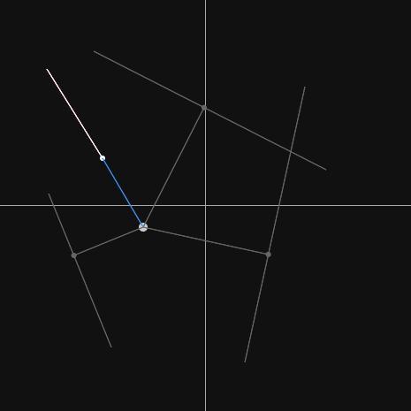 線分と点との最短距離サンプル