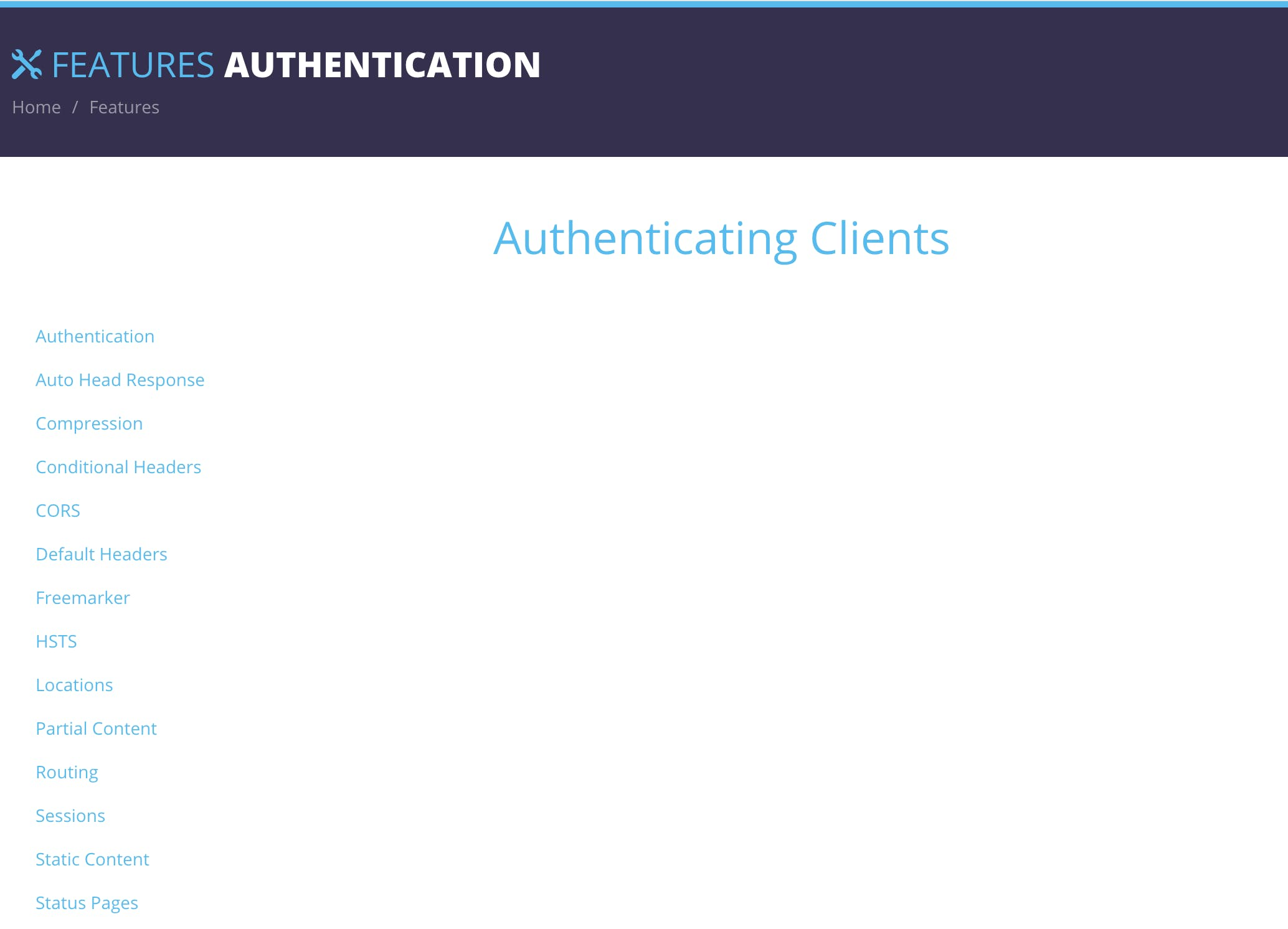Ktor authentication page screenshot