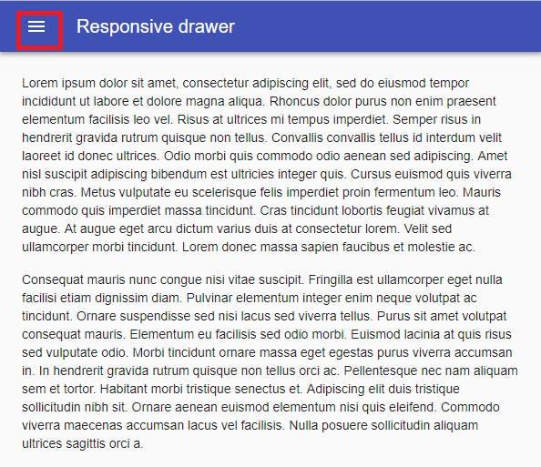 Material-UI レスポンシブデザイン- AppBar &