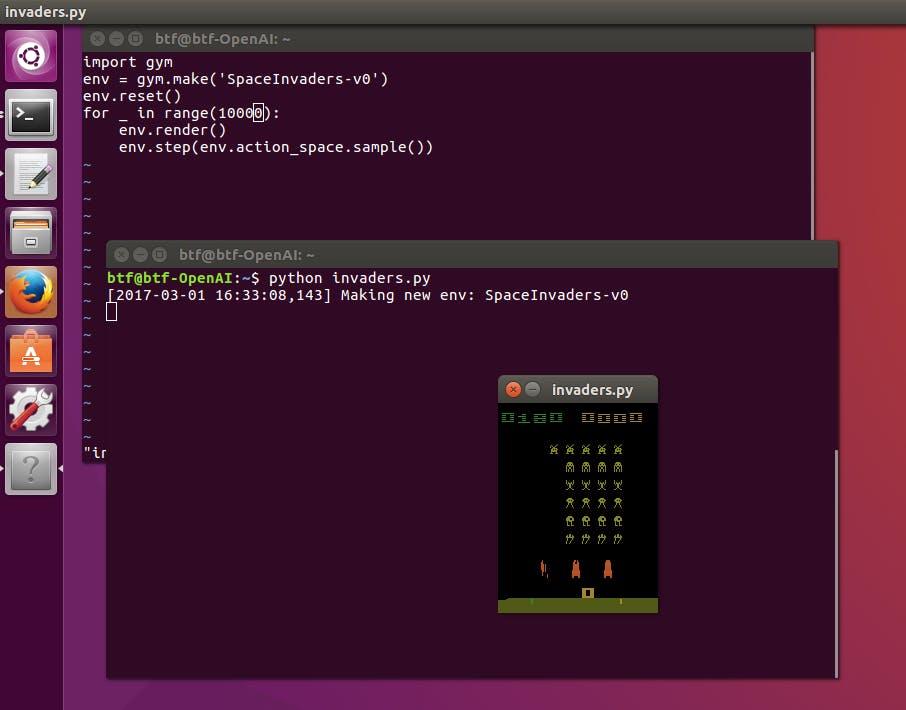 Ubuntu LinuxでOpenAI Gym&