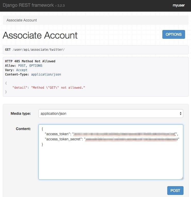 Djangoでスマホアプリ向けにソーシャル連携APIを作る - Qiita