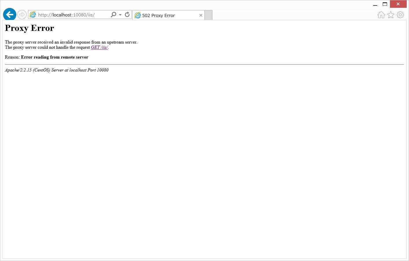 Apacheを用いたReverseProxyでのProxy Error(502)について - Qiita