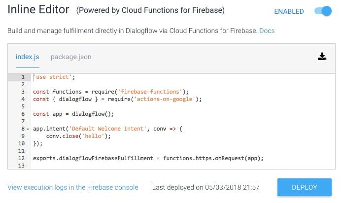 Dialogflow Api V2 Example