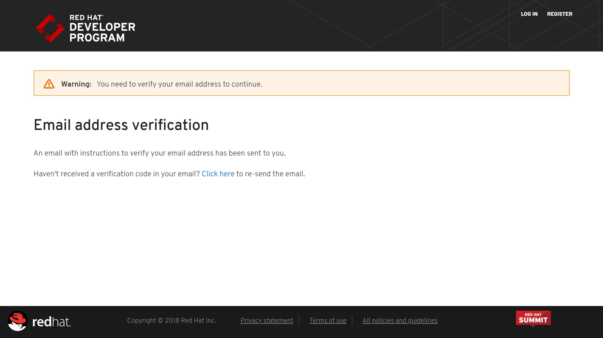 red-hat-developer-program-mail-address-verification