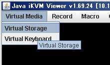 irtual MediaからVirtual Storageを選択
