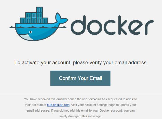 Docker Hub Activate