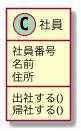 UML 社員というクラス図