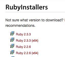 RubyInstaller2でWindows環境にRuby 2 4 + Rails 5 0 2をインストール