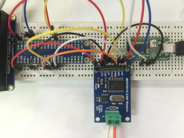 Raspberry Pi + MCP2515 CAN通信