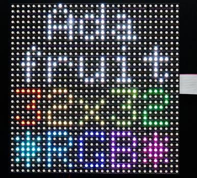 スクロールサイネージ(Raspberry Pi Zero W、カラーLED
