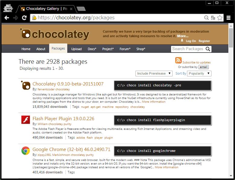 chocolatey 基本情報まとめ - Qiita