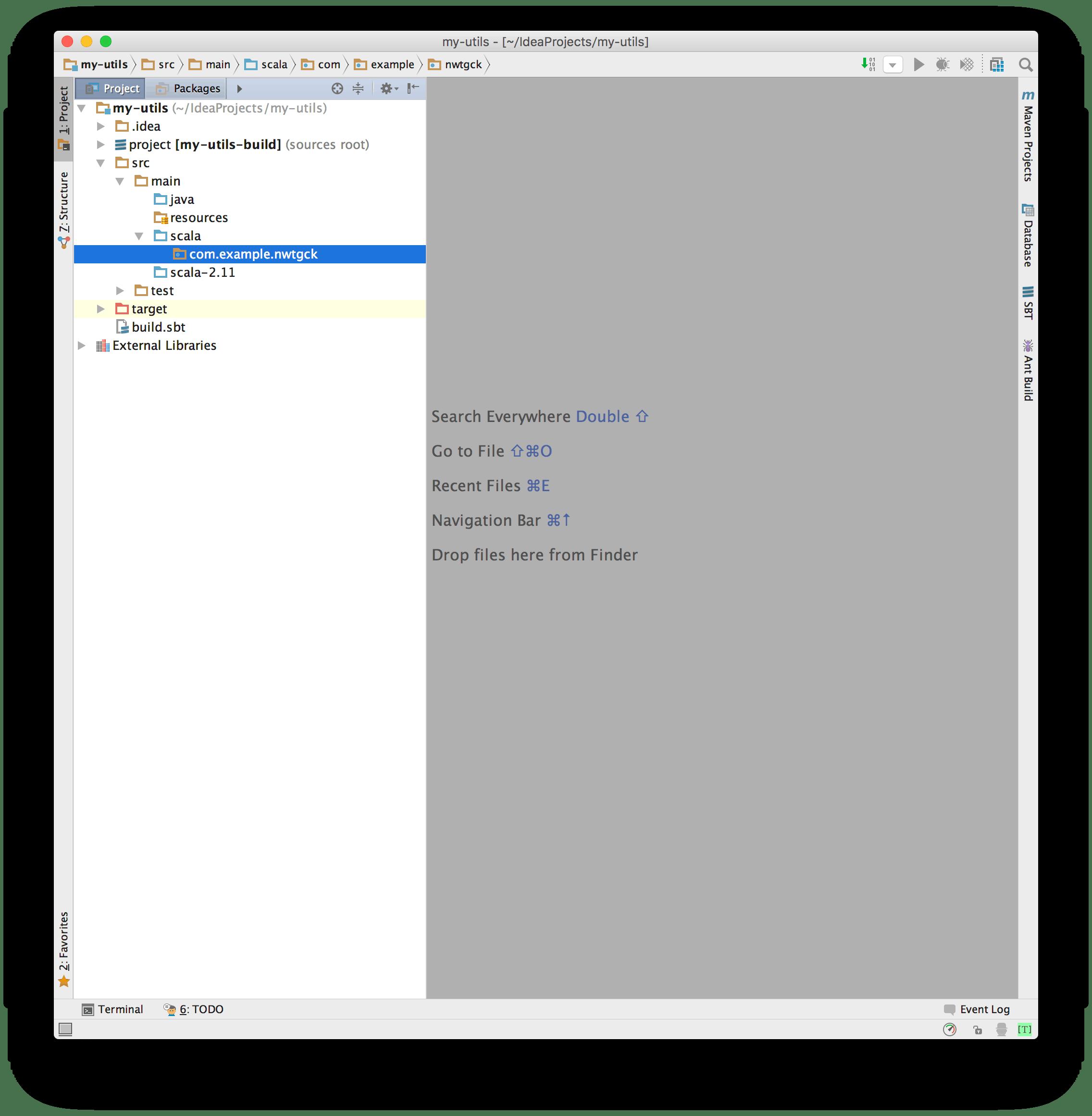 SBTで自作のライブラリを作って、IntelliJで取り込む - Qiita