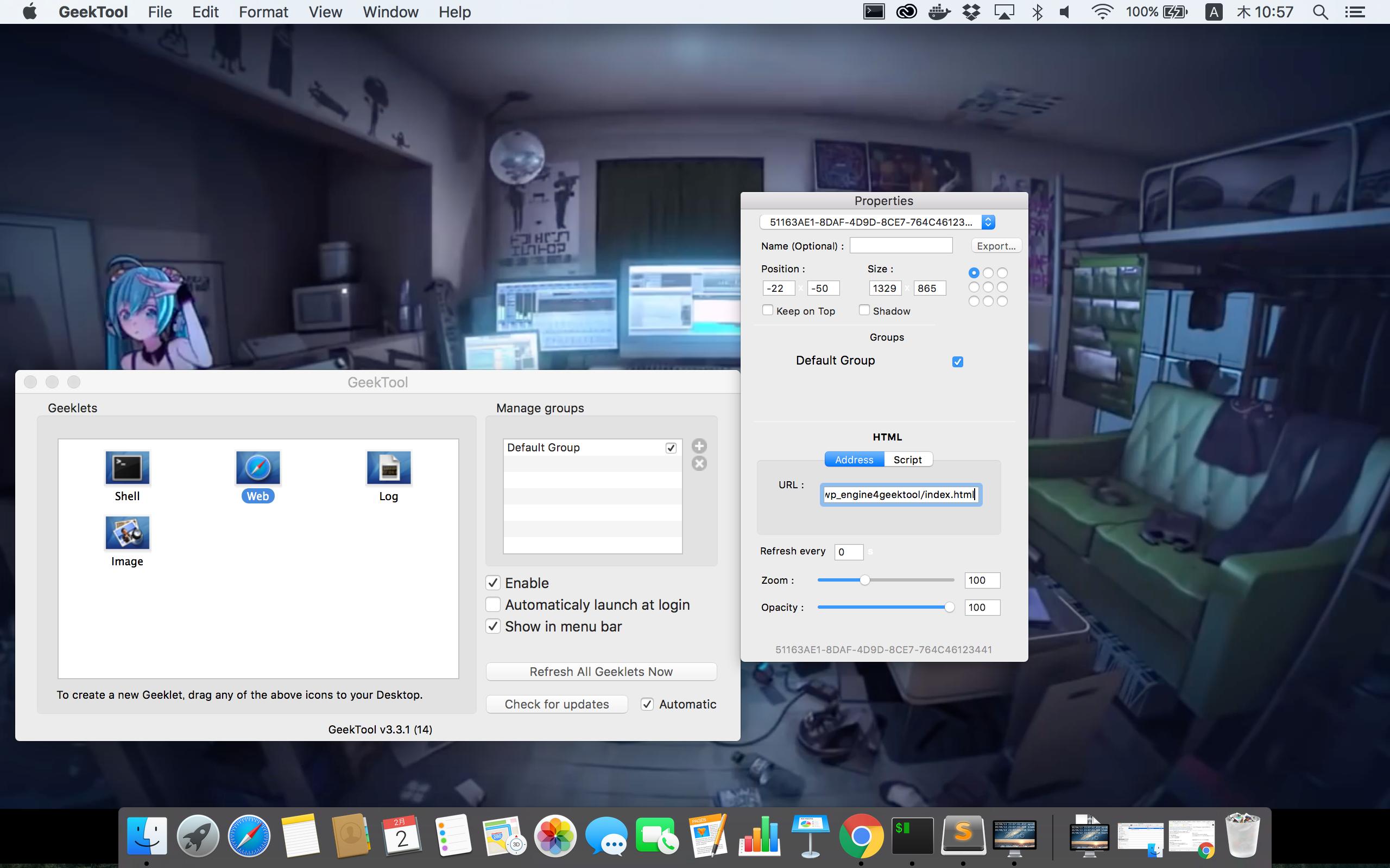 Geektoolとyoutube Iframeplayerapiを使って Macでwallpaper Engineを再現する Qiita