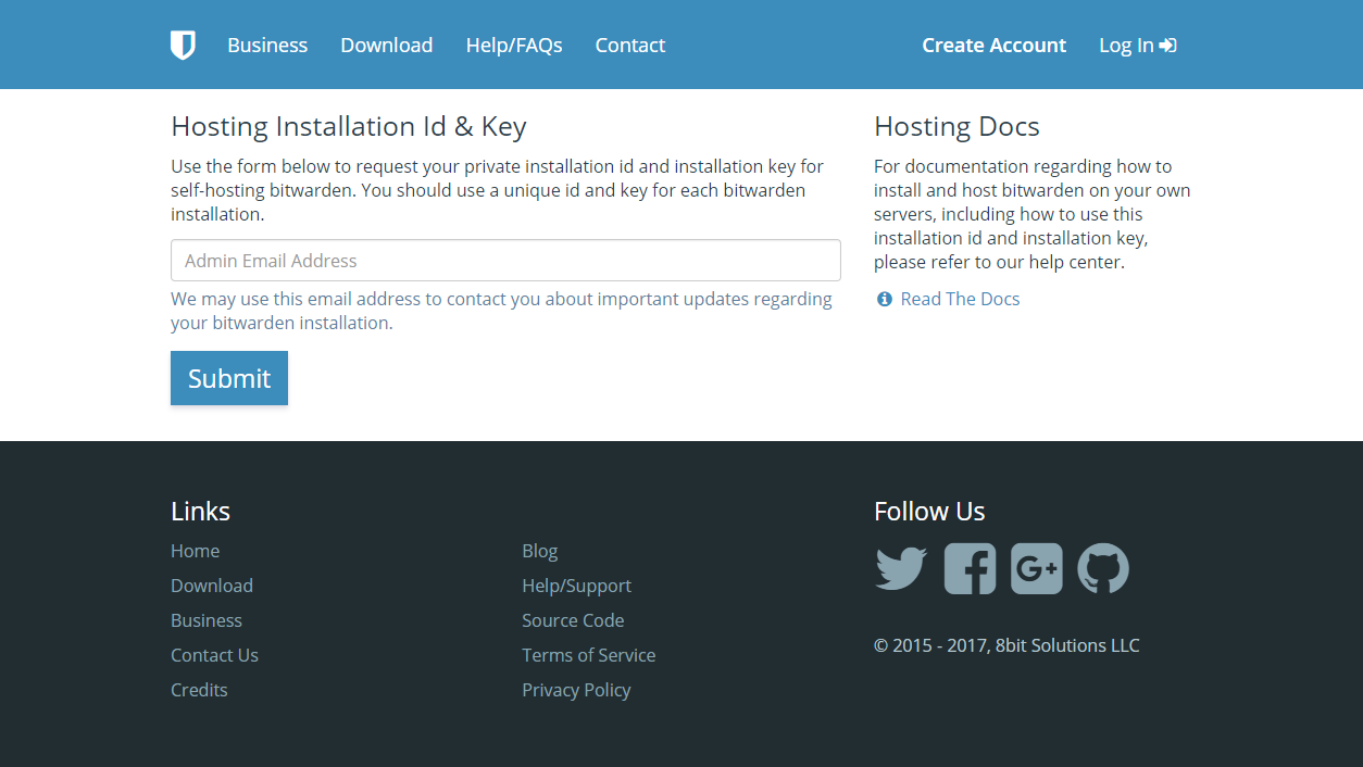 Hosting Installation Id and Key bitwarden.png