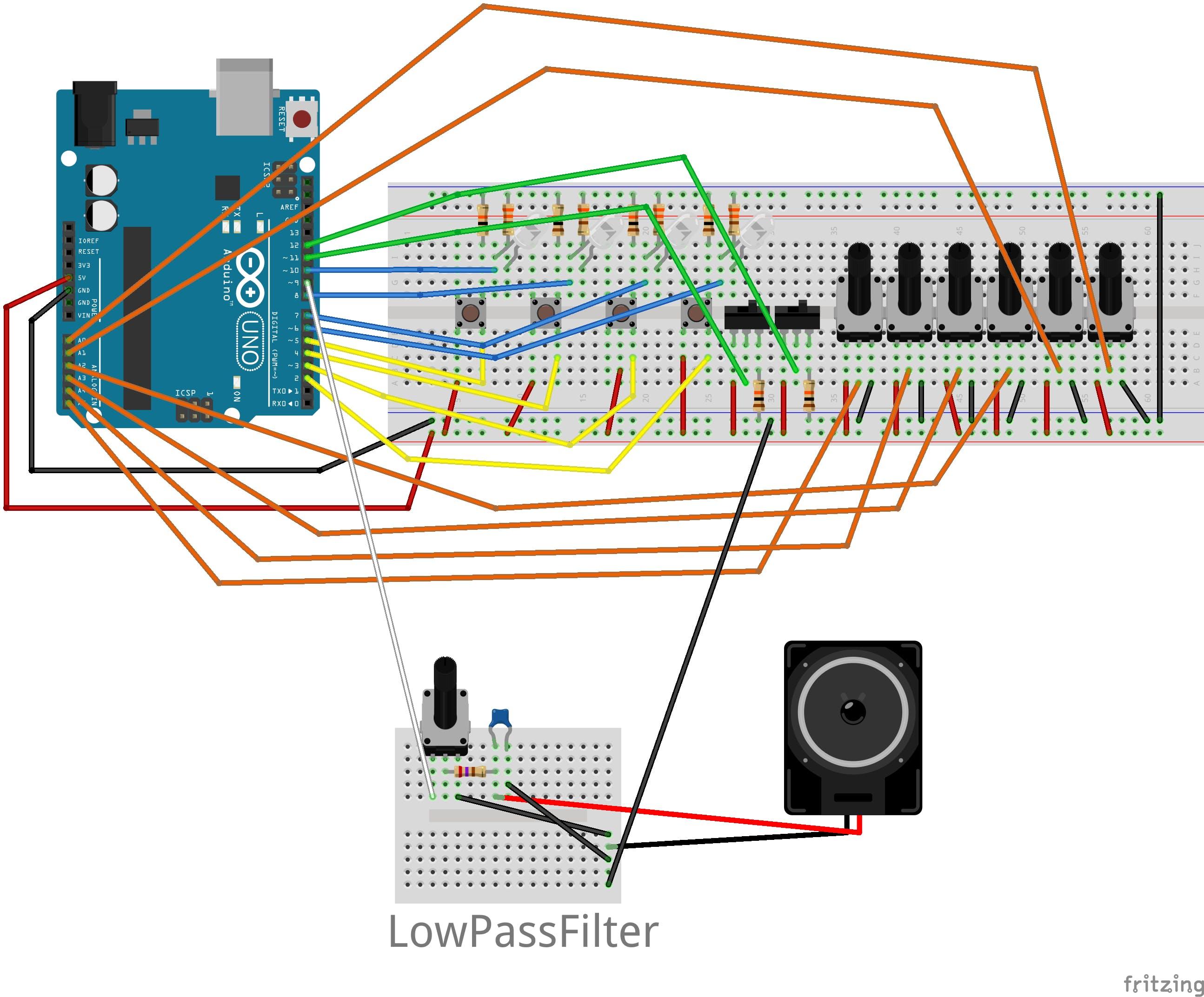 arduino+mozziでステップシーケンサーっぽいシンセサイザー製作 - Qiita