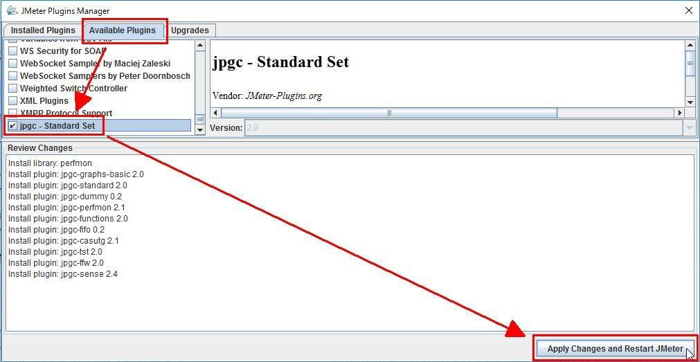 Plugins Manager で jpgc - Standard Set をインストール