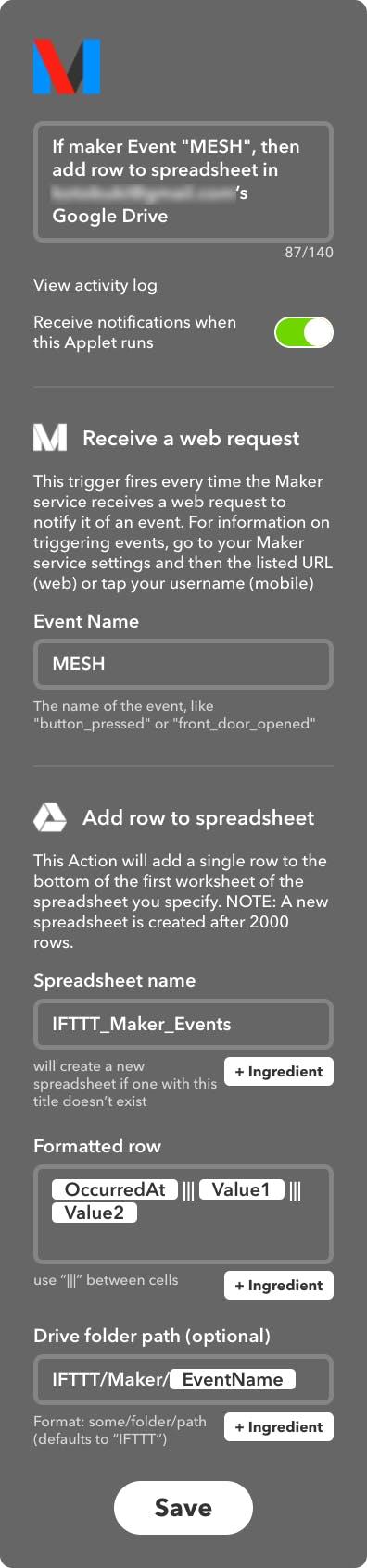 FireShot Capture 114 - If maker Event _MESH_, then add row t_ - https___ifttt.com_applets_51487550.png