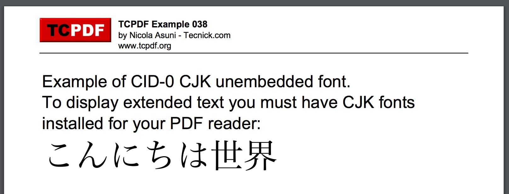 Tcpdf Examples