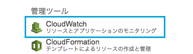 CloudWatchを開く