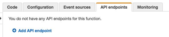 APIエンドポイントを追加する