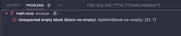 VS Code上のstylelintのエラー