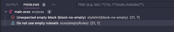 stylelintとVS Codeのエラーの重複