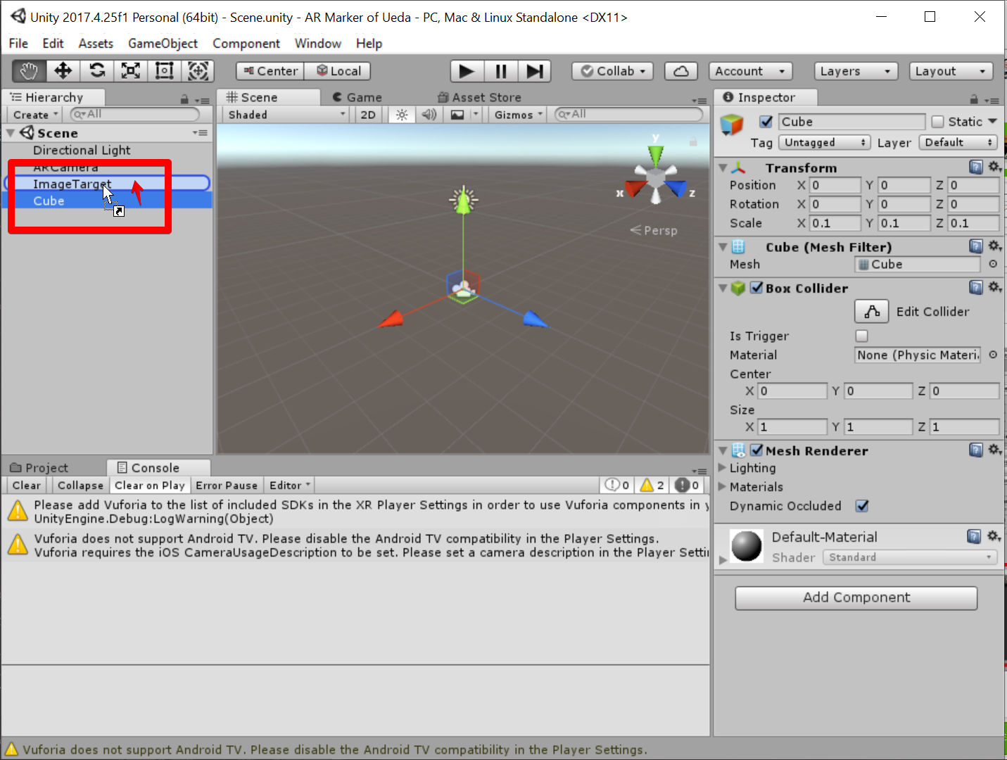 Unity 2017.4.25f1 Personal (64bit) - Scene.unity - AR Marker of Ueda - PC, Mac & Linux Standalone _DX11_ 2019-07-05 07.51.23.png
