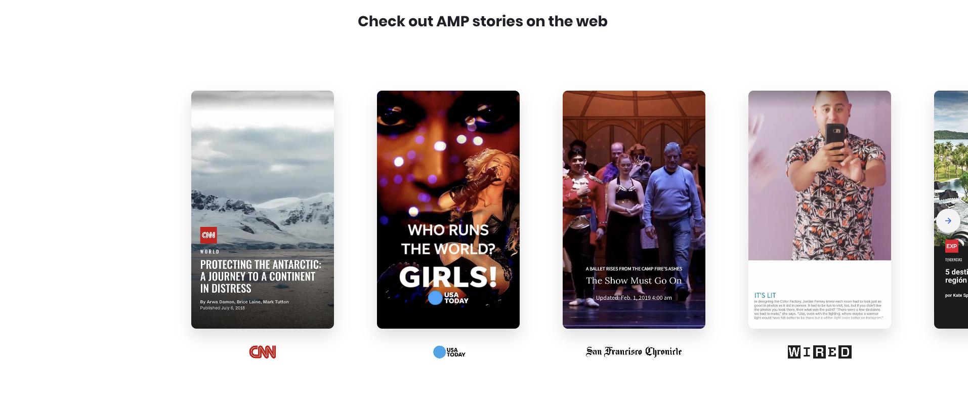 AMP Storiesのshowcase