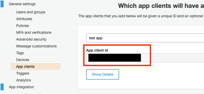 App Clientsの設定2