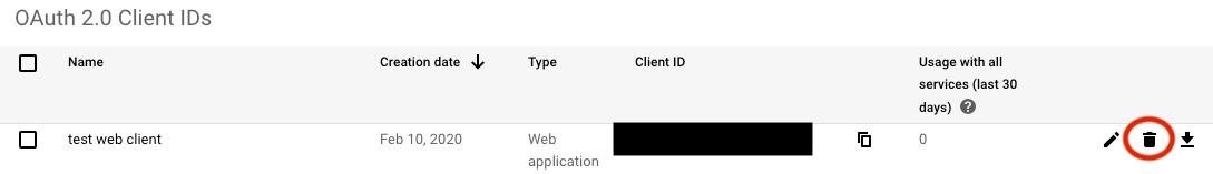GCP APIs OAuth ID & Secret