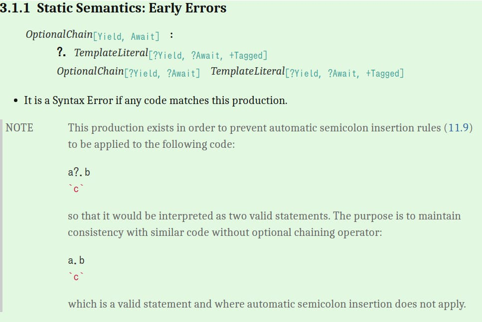 3.1.1 Static Semantics: Early Errors