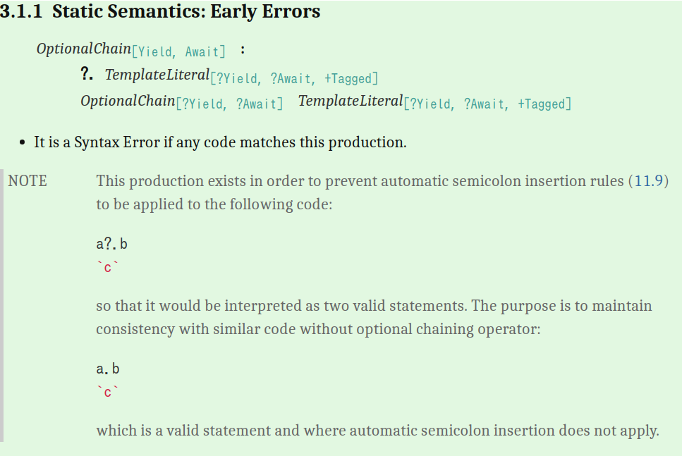 3.1.1 Static Semantics: Early Errors
