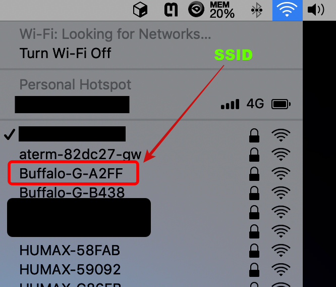 find ssid of your wifi