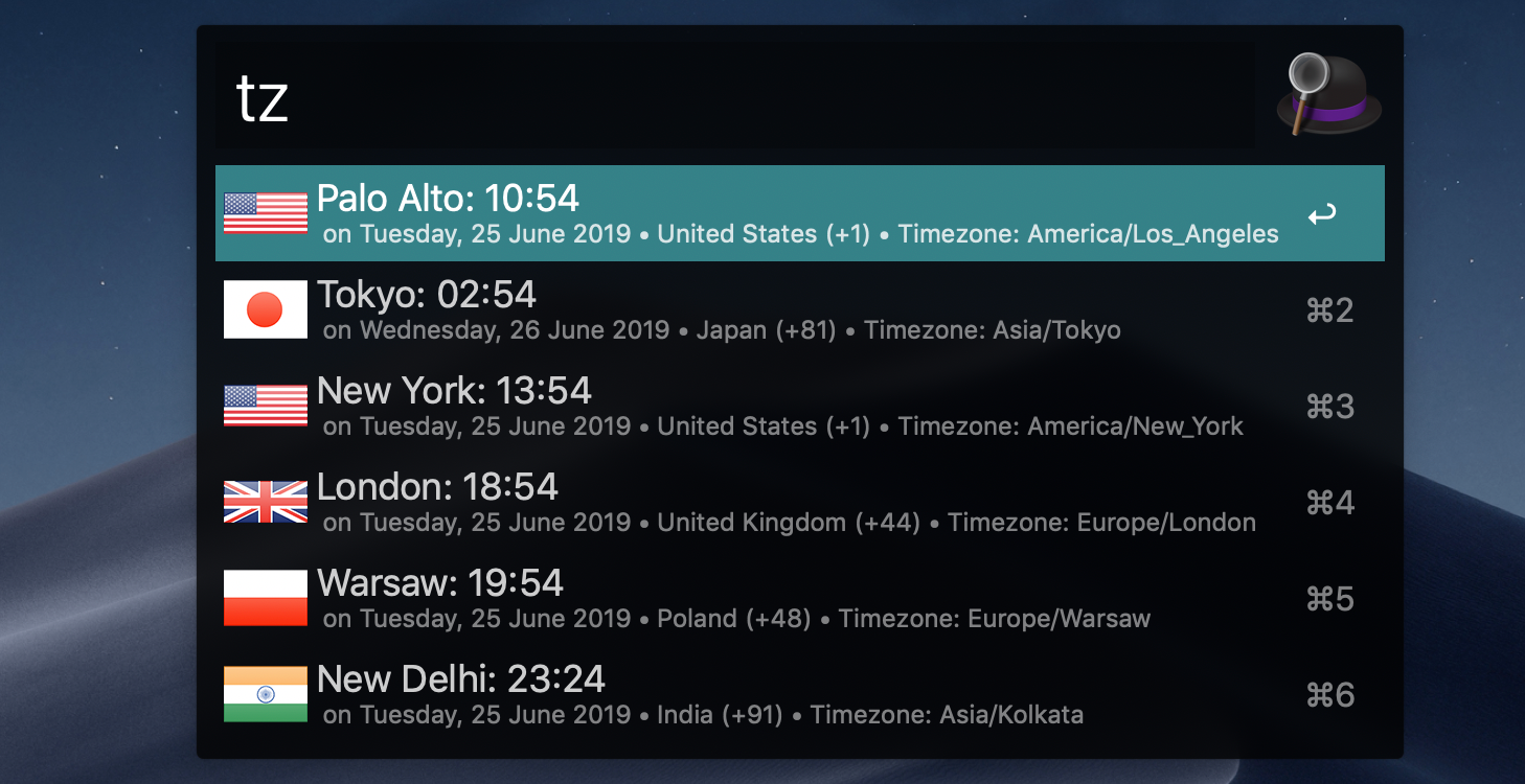 time zones workflow
